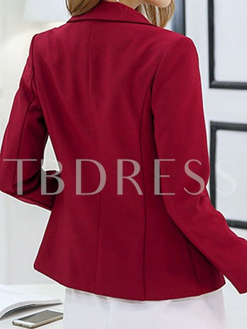 Slim Fit One Button With Pocket Women's Blazer