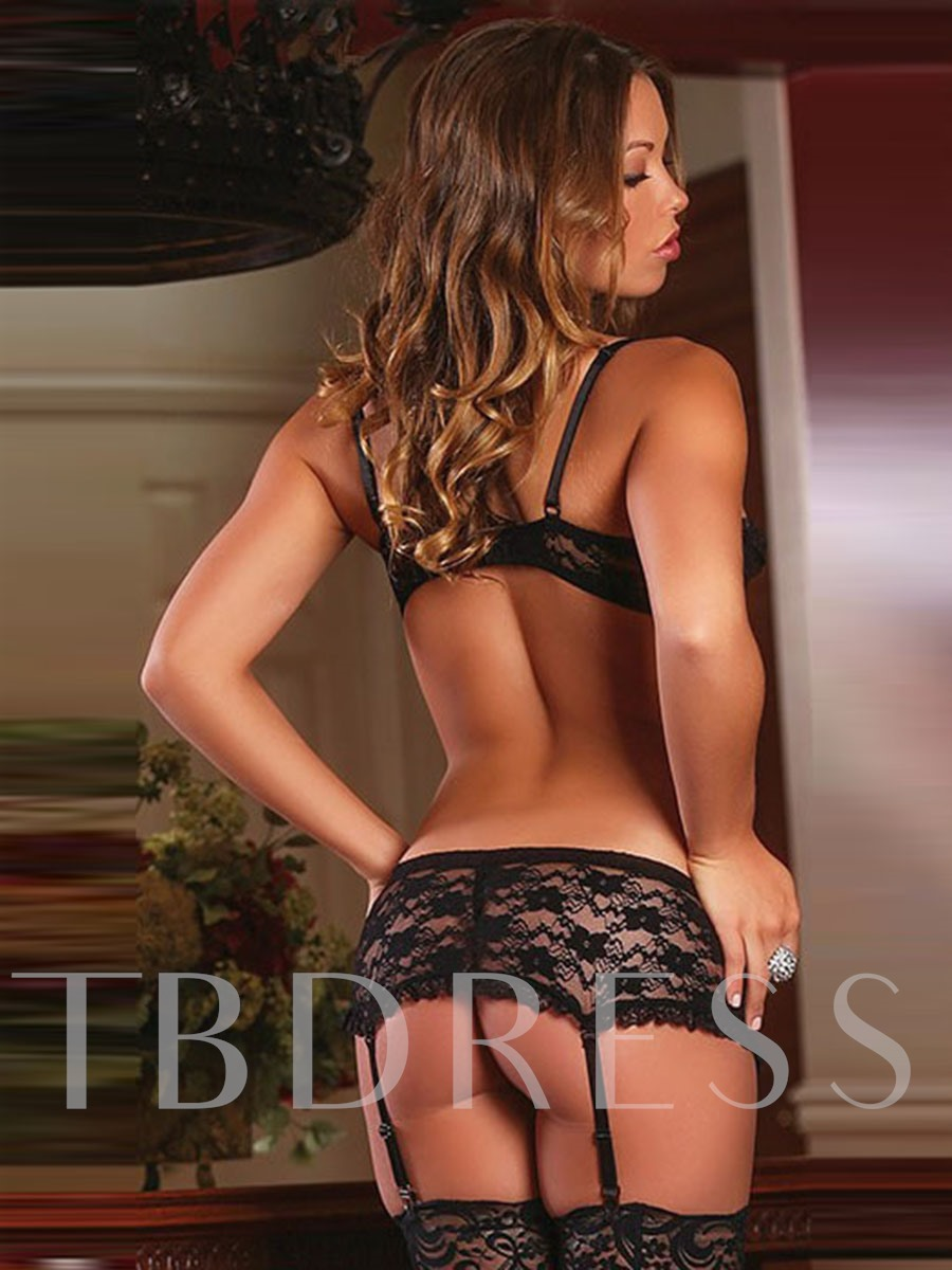 dentelle sexy bowknot trois points lingerie sexy