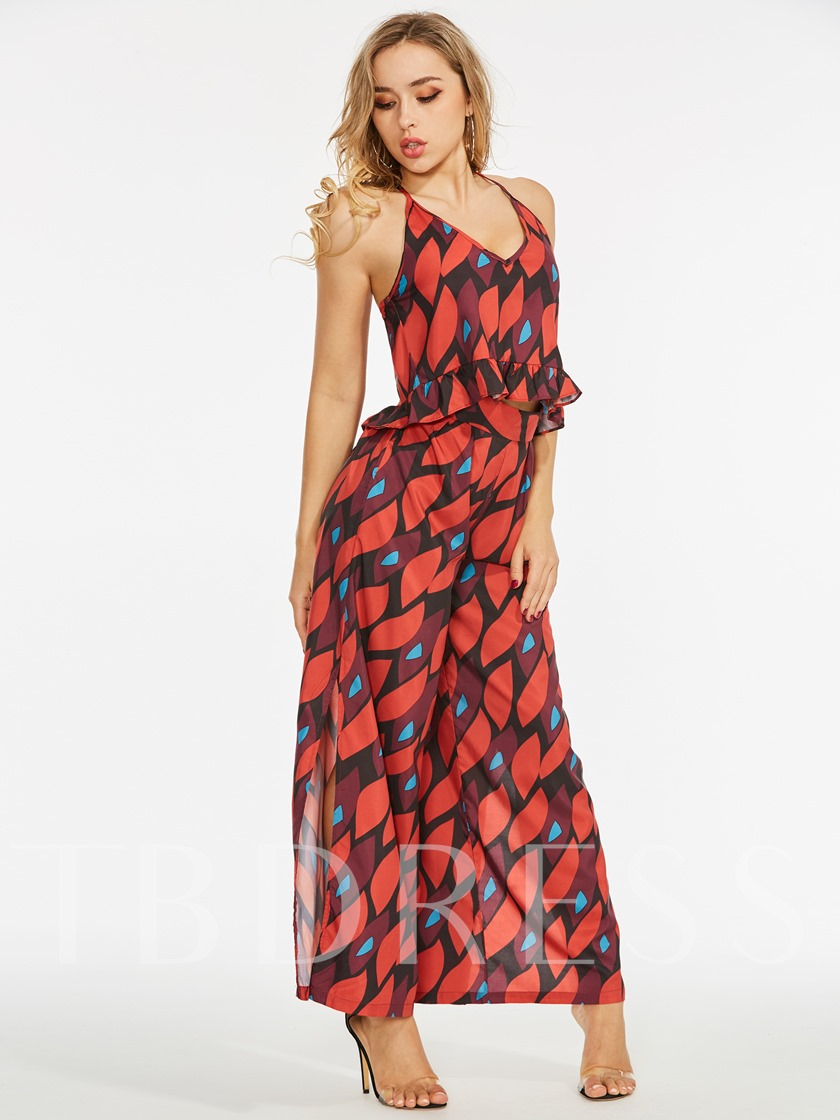 Print Cami Top and Pants Women's Two Piece Set