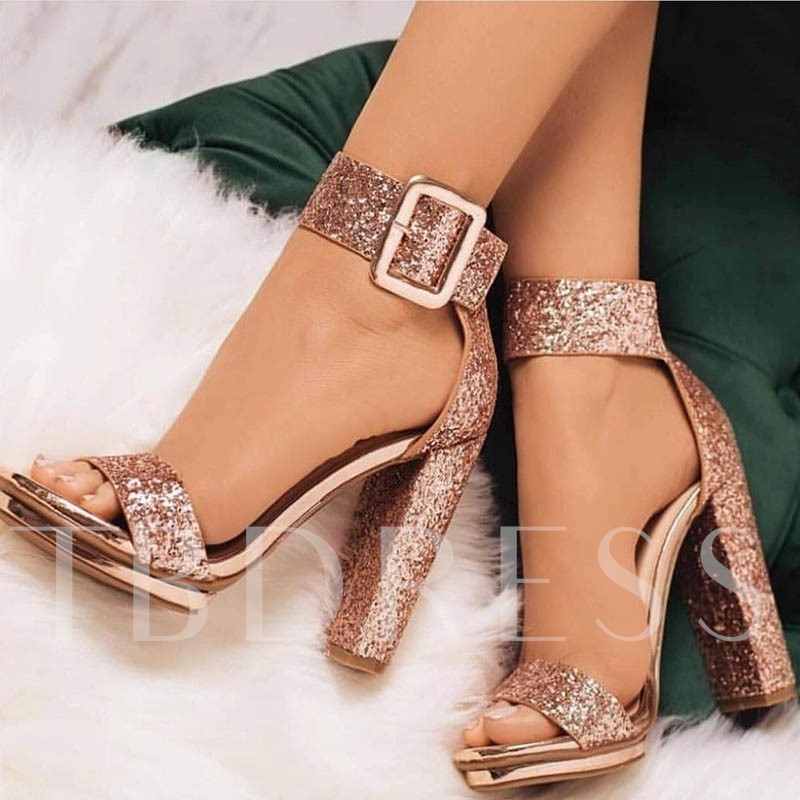 Buy Line Style Buckle Heel Covering Summer Sandals, Spring,Summer, 13273049 for $68.99 in TBDress store