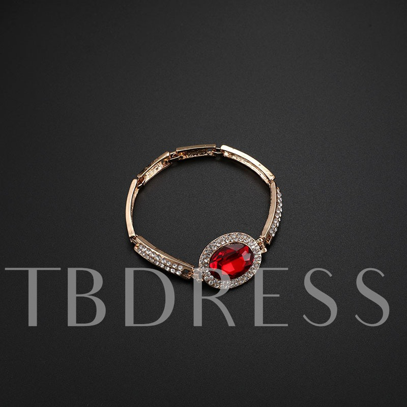 Chic Ruby Simulation Jewelry Sets