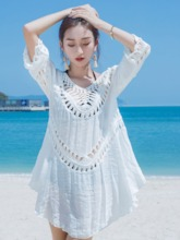Pullover Patchwork Plain Women's Beach Tops