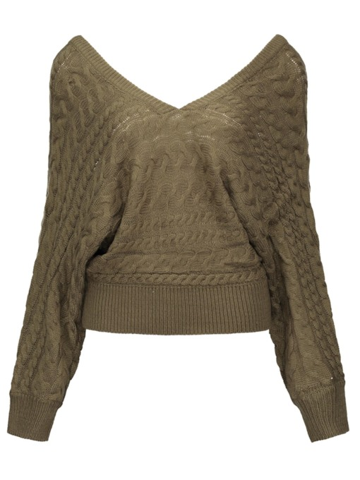 V-Neck Long Sleeve Women's Sweater