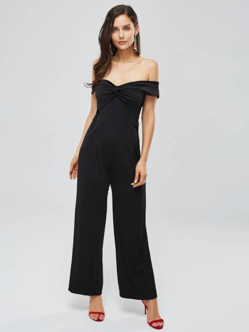 Off Shoulder Backless Women's Jumpsuit