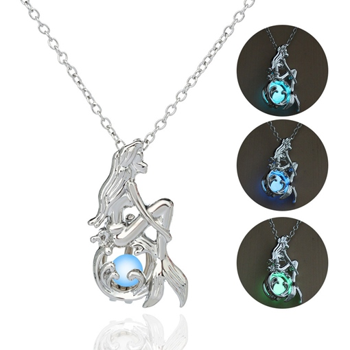 Luminous Alloy Pendant Necklace