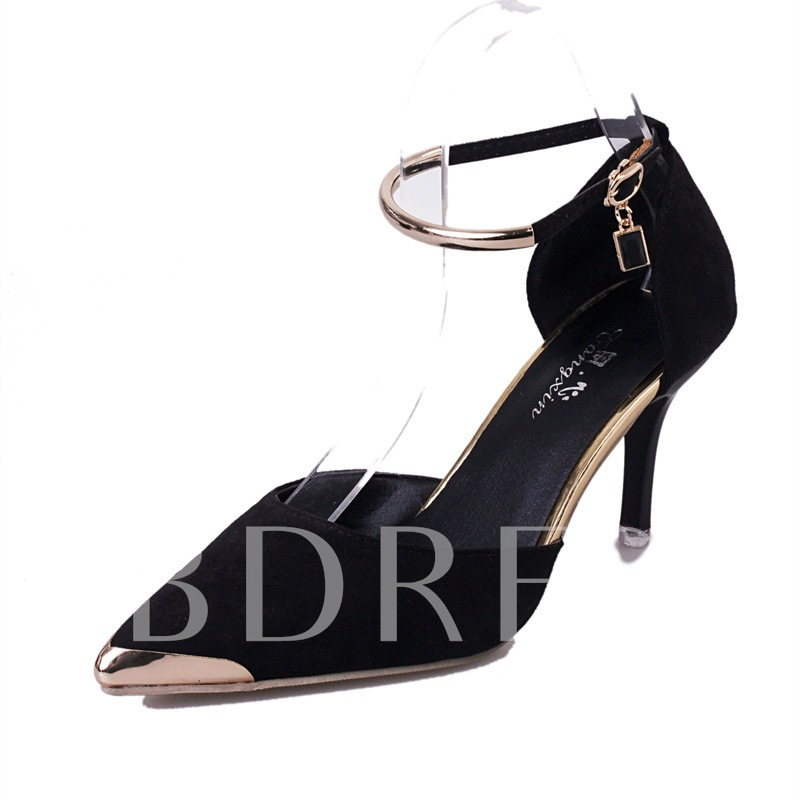 Buy Stiletto Heel Pointed Toe Sequin Buckle Chic Women's Pumps, Spring,Summer,Fall, 13359766 for $34.04 in TBDress store