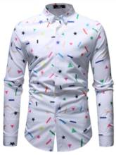 Pattern Print Leisure Men's Shirt