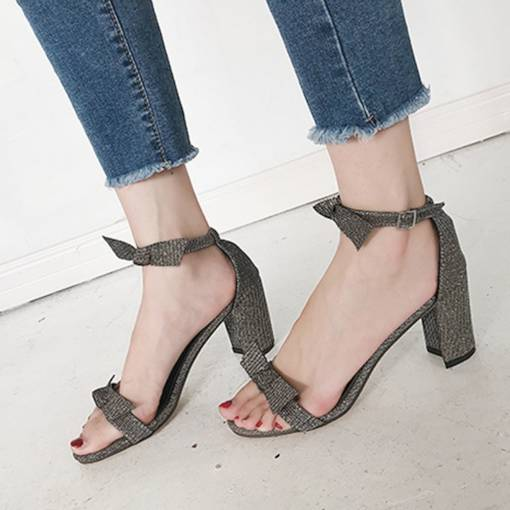 Open Toe Chunky Heel Summer Casual Women's Sandals