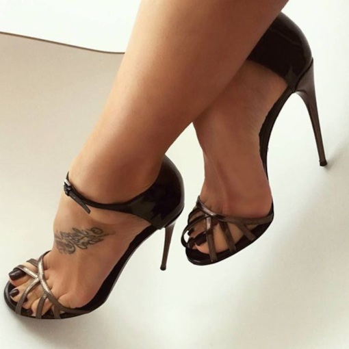 Peep Toe Stiletto Heel Unique Sexy Women's Sandals