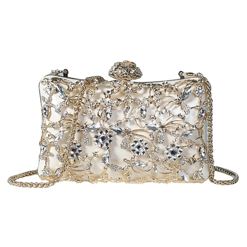 Luxury Style Solid ColorFloral Banquet Bag