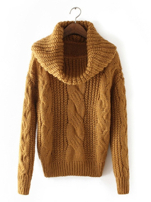 Heap Collar Pullover Loose Fit Women's Sweater