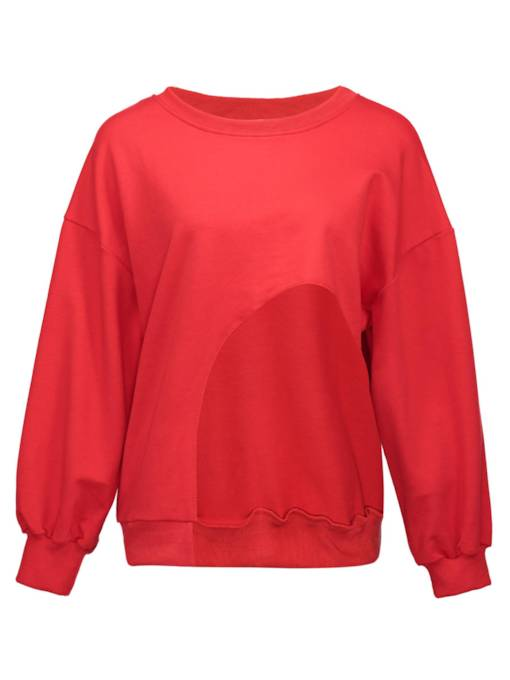 Solid Color Hollow Out Women's Sweatshirt
