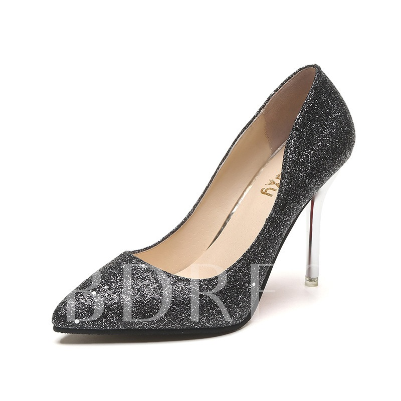 Buy Pointed Toe Stiletto Heel Slip-On Sequin Banquet Women's Pumps, Spring,Summer,Fall, 13361393 for $35.89 in TBDress store