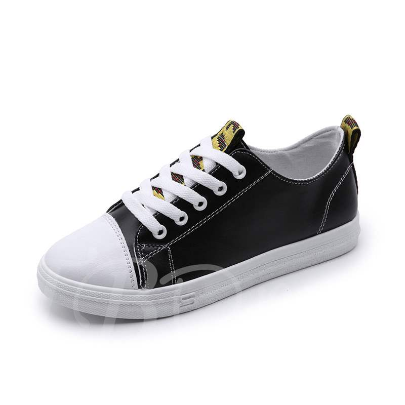 Buy Round Toe Platform Color Block Lace-Up Trendy Women's Sneaker, Spring,Summer,Fall, 13361257 for $26.37 in TBDress store
