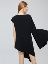 One Shoulder Bell Sleeve Elegant Day Dress