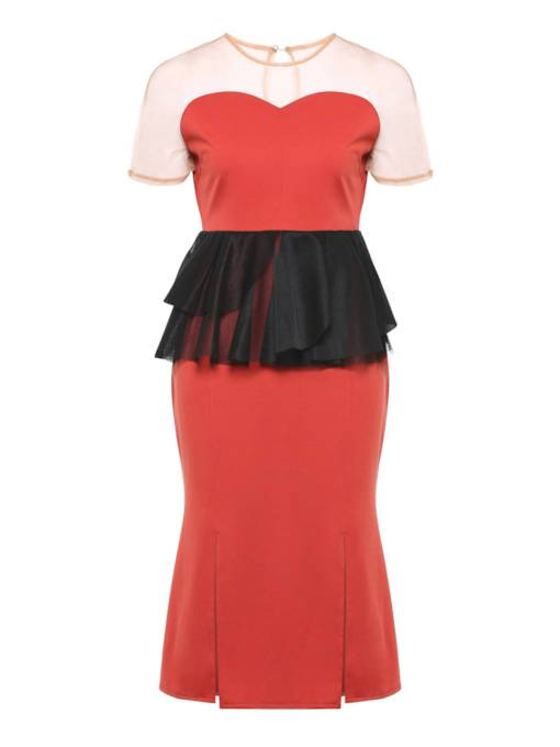 Double-Layered Strapless Women's Party Dress