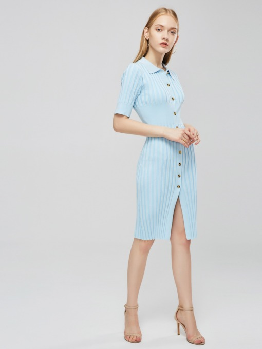 Short Sleeve Peter Pan Collar Women's Day Dress