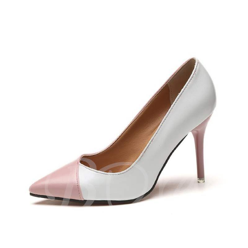 Buy Pointed Toe Stiletto Heel Color Block Slip-On Classical Women's Pumps, Spring,Summer,Fall, 13364969 for $26.35 in TBDress store