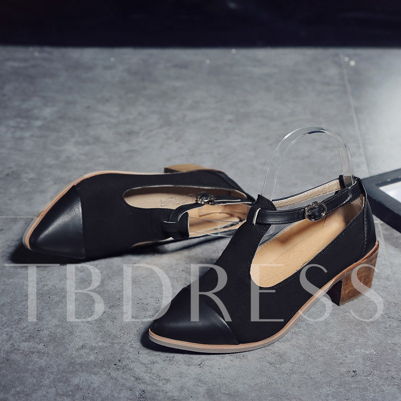 Buy Pointed Toe Hasp Chunky Heel Classical Women's Pumps, Spring,Summer,Fall, 13364968 for $20.28 in TBDress store