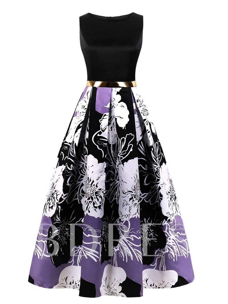 Buy Scoop Printed A-Line Evening dress, Tanpell, Spring,Summer,Fall, 13365378 for $52.99 in TBDress store