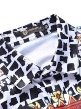 Lapel Polker Print Leisure Men's Shirt