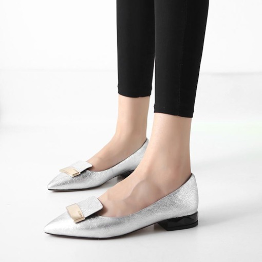 Pointed Toe Sequin Slip-On Exquisite Women's Flats