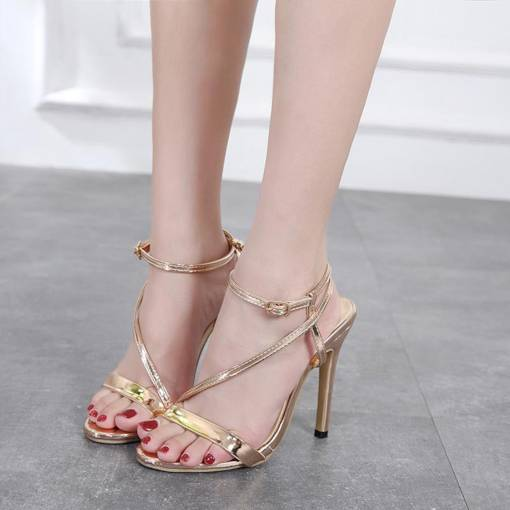 Strappy Stiletto Heel Open Toe Sexy Women's Sandals