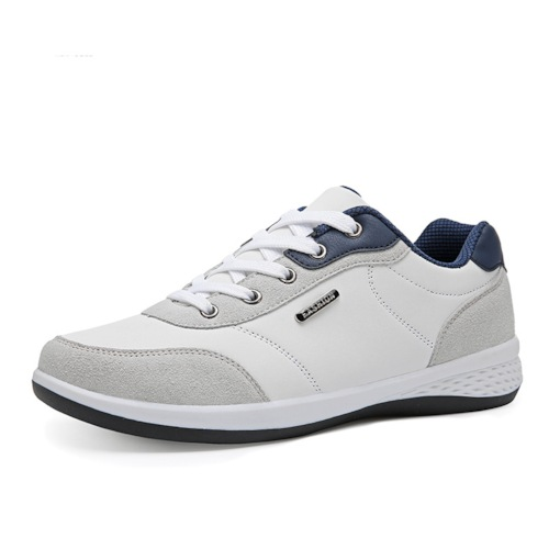 Mesh Round Toe Lace-Up Color Block Breathable Men's Sneakers