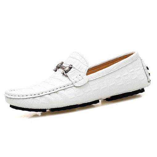 Round Toe Rivet Slip-On Casual Trendy Men's Loafers