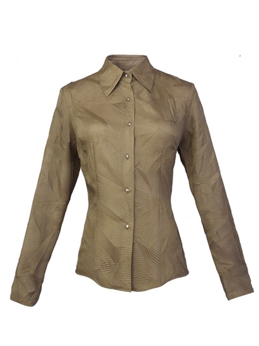 Vintage Slim Fit Button Down Lapel Women's Shirt