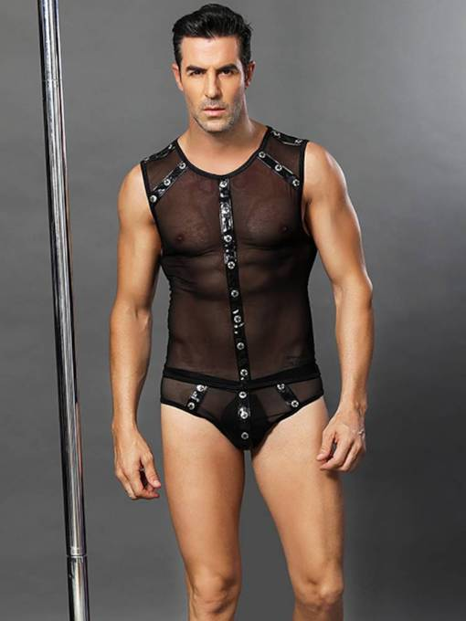 Men's Sexy Lingerie See-Through Dancing Costume