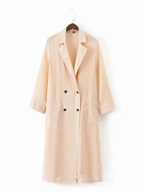 Double Breasted Mid Length Women's Trench Coat