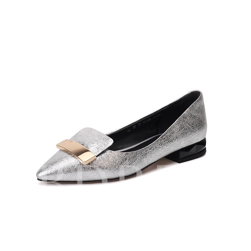 Buy Pointed Toe Sequin Slip-On Exquisite Women's Flats, Spring,Summer,Fall, 13366376 for $27.59 in TBDress store