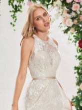 Mermaid Criss-Cross Straps Lace Wedding Dress