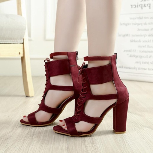Open Toe Heel Covering Cross Strap Sexy Women's Sandals