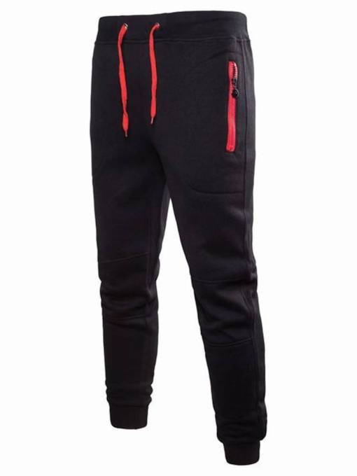 Lace-up Zipper Men's Casual Pants
