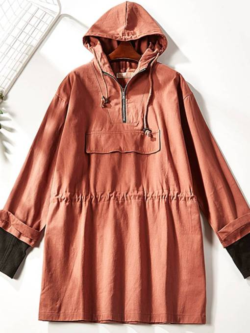 Pullover Double Layered Women's Trench Coat