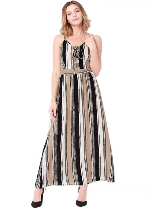 Spaghetti Strap Prints Bohemian Maxi Dress