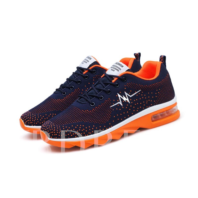 Lace-Up Mesh Casual Breathable Men's Running Shoes
