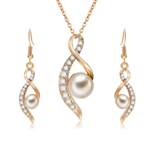 Sweet Pearl Diamante Jewelry Sets