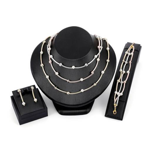 Multilayer Copper Pearl Jewelry Sets
