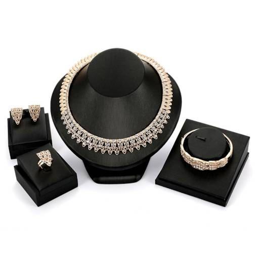 Double Diamante Dazzling Jewelry Sets