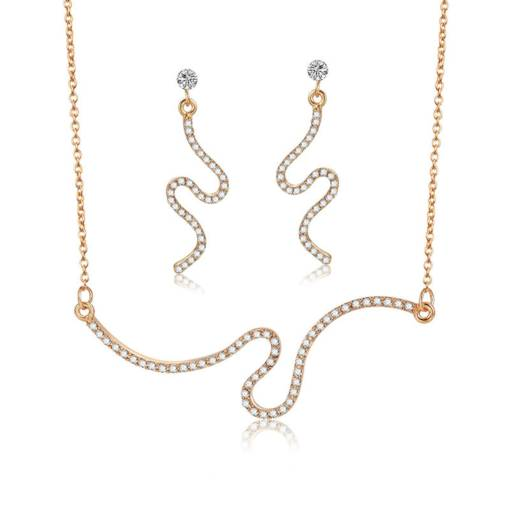 Simple Serpentine Diamante Jewelry Sets
