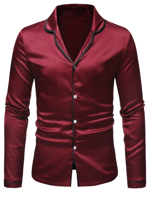 Pajamas Style Leisure Slim Men's Shirt