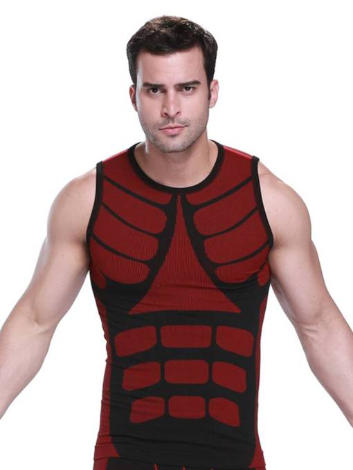 Color Block Anti-Sweat Quick Dry Sports Vest Top for Men