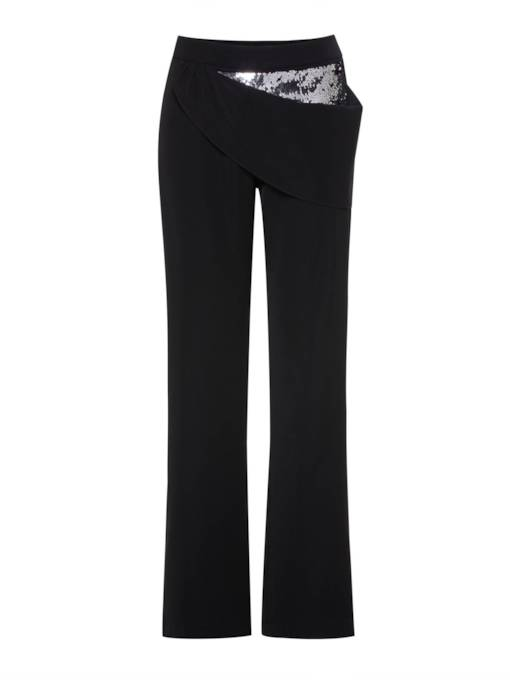 Sequins Patchwork Straight Women's Casual Pants