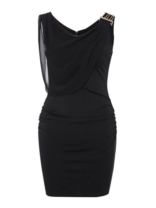 V-Neck Sleeveless Elegant Bodycon Dress