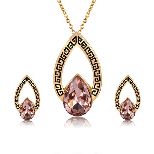 Rhinestone Geometric Pattern Jewelry Sets