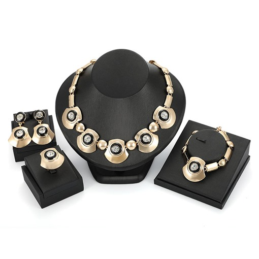 Exaggerated Fan Shape 4 Piece Party Jewelry Set