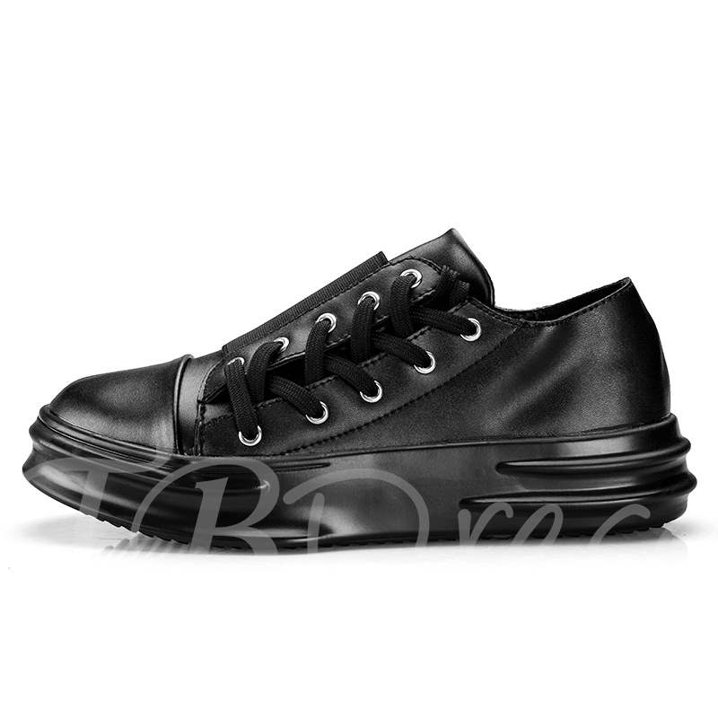 Buy Round Toe Lace-Up Unique Skateboard Shoes for Men, Spring,Summer,Fall,Winter, 13369101 for $39.63 in TBDress store